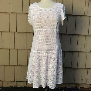 Nanette Lepore size 14 Cream Floral Lace Dress